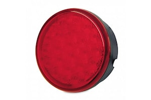 Blixtlykta LED röd 83 mm Ø