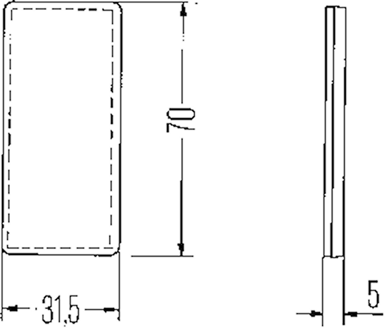 Reflex vit 70x32mm självhäft