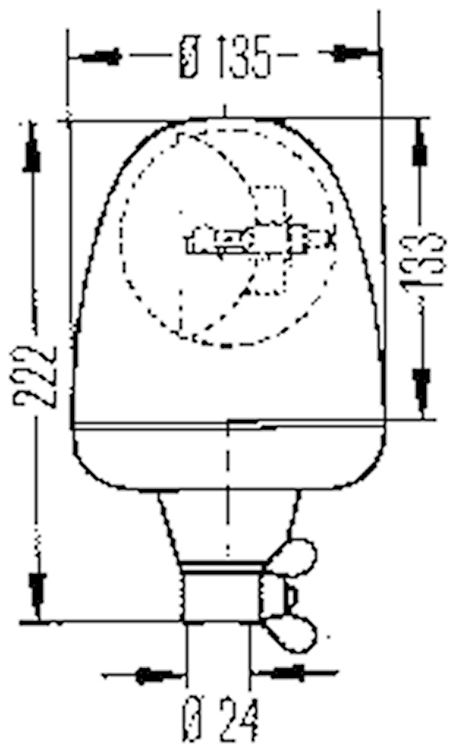 Varn.fyr 12V gul Rotaflex FL
