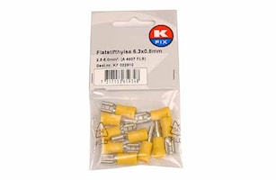 Flatstifthylsa 6,3x0,8mm gul