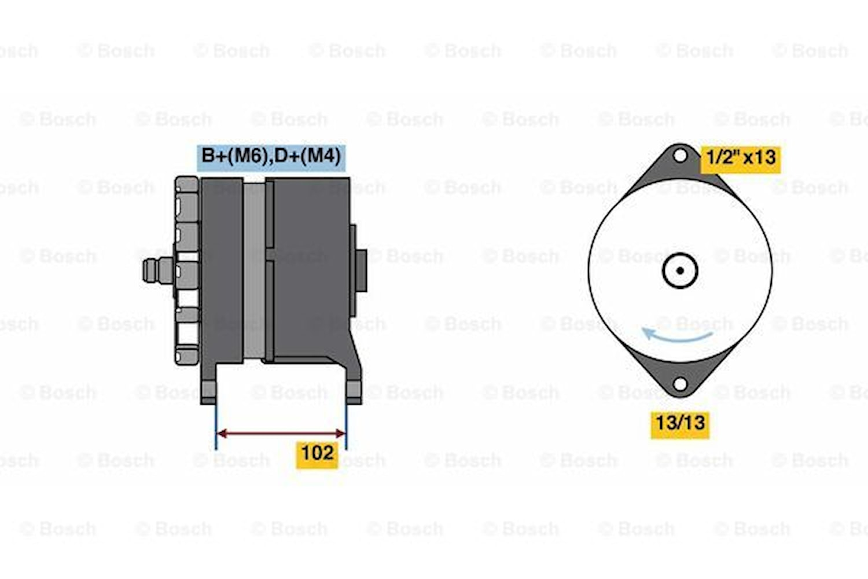 Generator utbytes 28V/70A