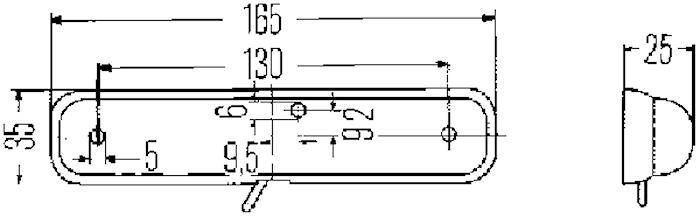 Innerbelysn 165x35mm m strömbr