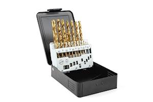 Borrkassett TIN 1-10mm, metall