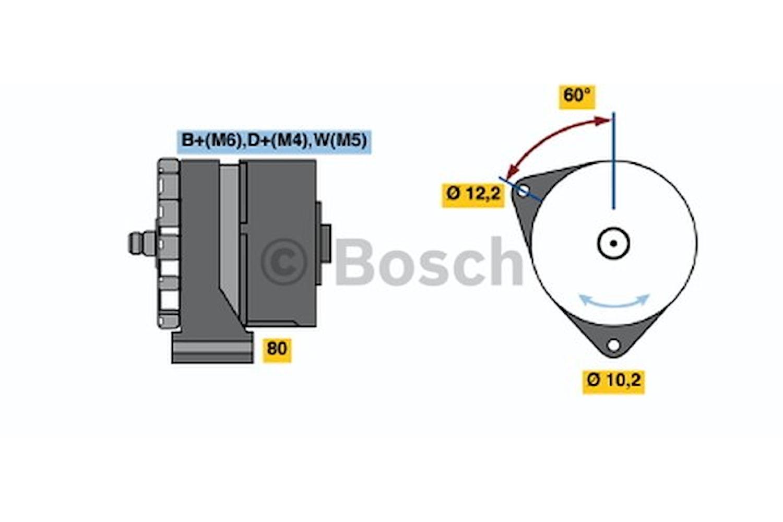 Generator utbytes 28V/35A