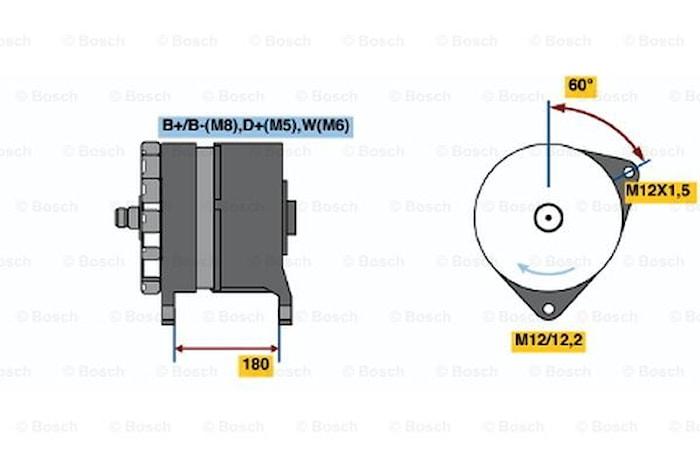 Generator utbytes 24V/140A