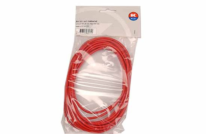 Kabel RKUB 4.0 röd, 5m/förp.