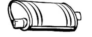 Ljuddämpare bak