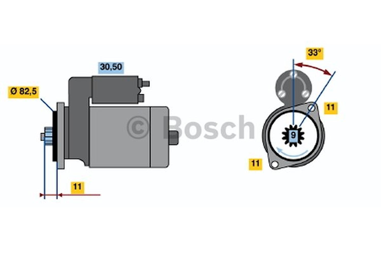 Startmotor utbytes 12V/1,4kW