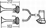 Kompressorhorn-sats 12V
