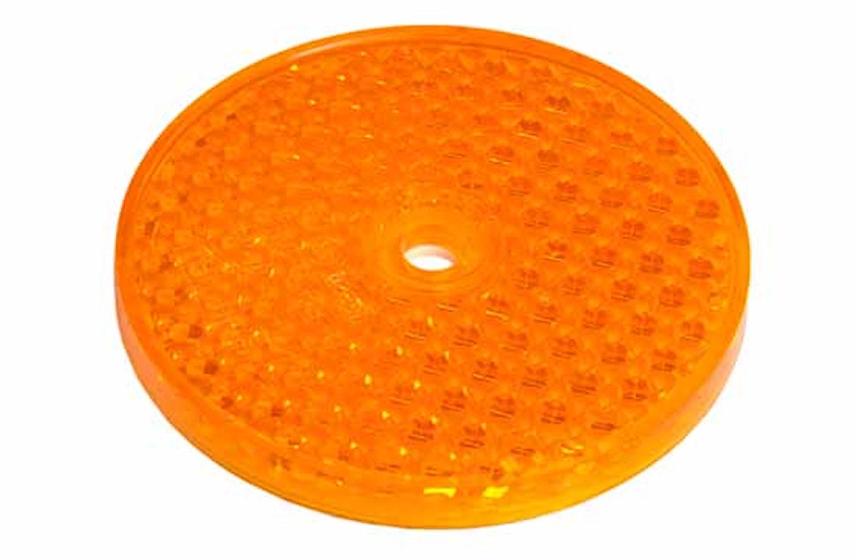 Reflex gul 68mm Ø självhäftand