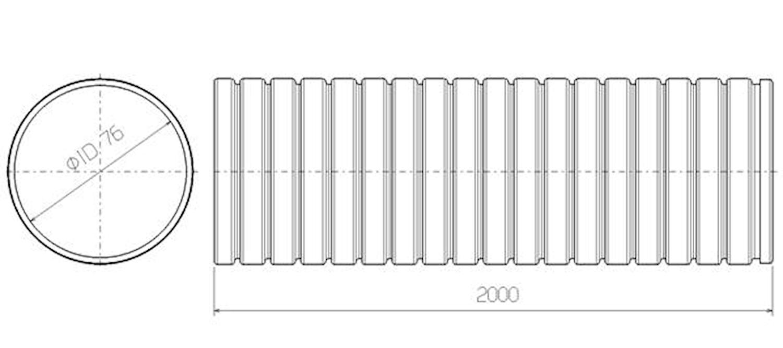 Flexrör 76x2000