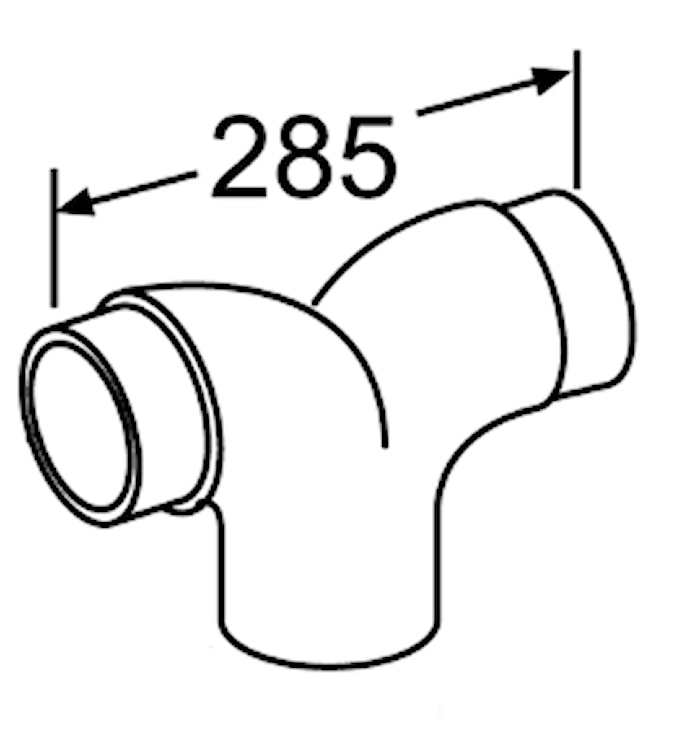 Y-rör 3 x Ø 100 mm, plåt