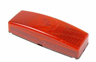 Baklykta röd m reflex 110x40mm