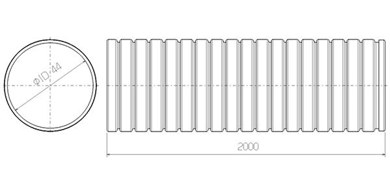 Flexrör 44x2000