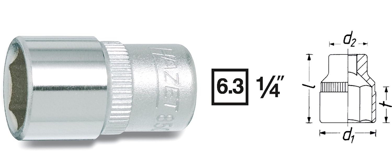 "Hylsa 1/4"" 9 mm"