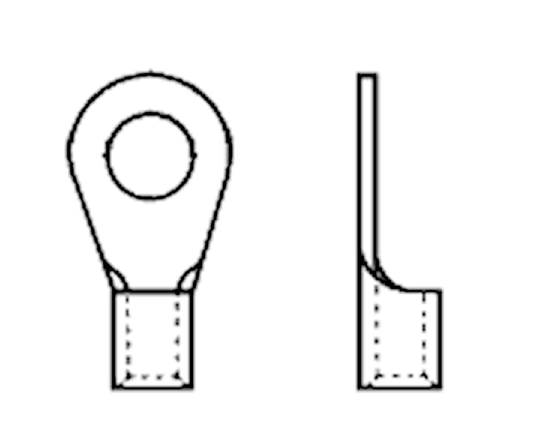 Ringkabelsko 5,3mm , 4,0-6mm²