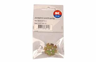 Jordplint 8-polig med hål 4mm