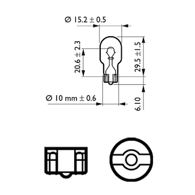 Glödlampa 12V 16W W2.1x9.5d
