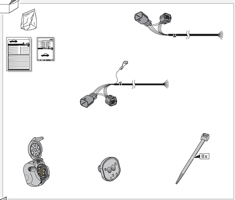 Elkabelsats 7-polig Ford Range