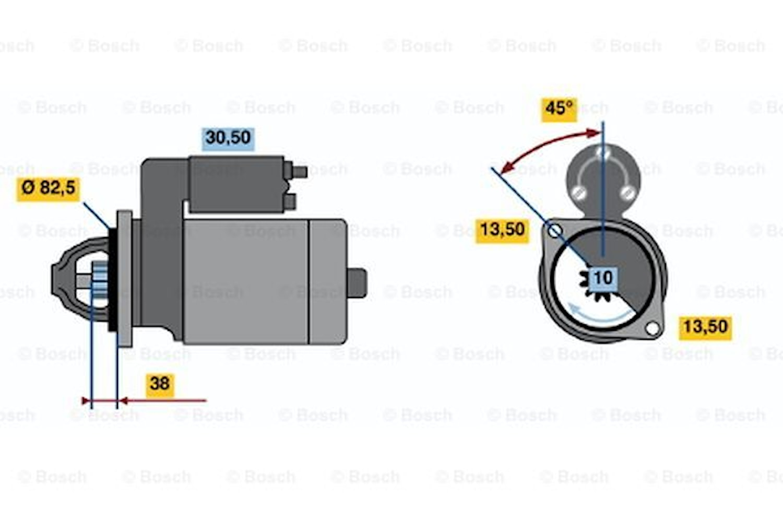 Startmotor utbytes 12V/3kW