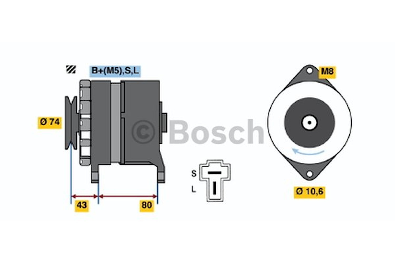 Generator utbytes 14V/50A