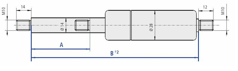 Gasfj B=670 A=300 1000N M10