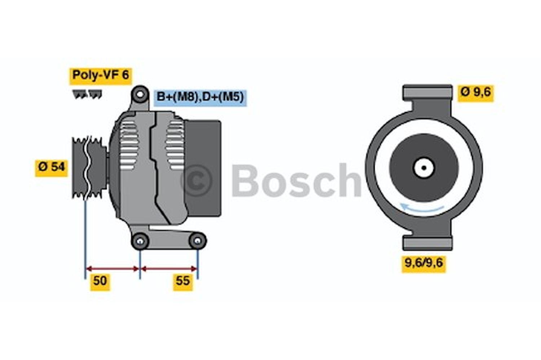 Generator utbytes 14V/75A