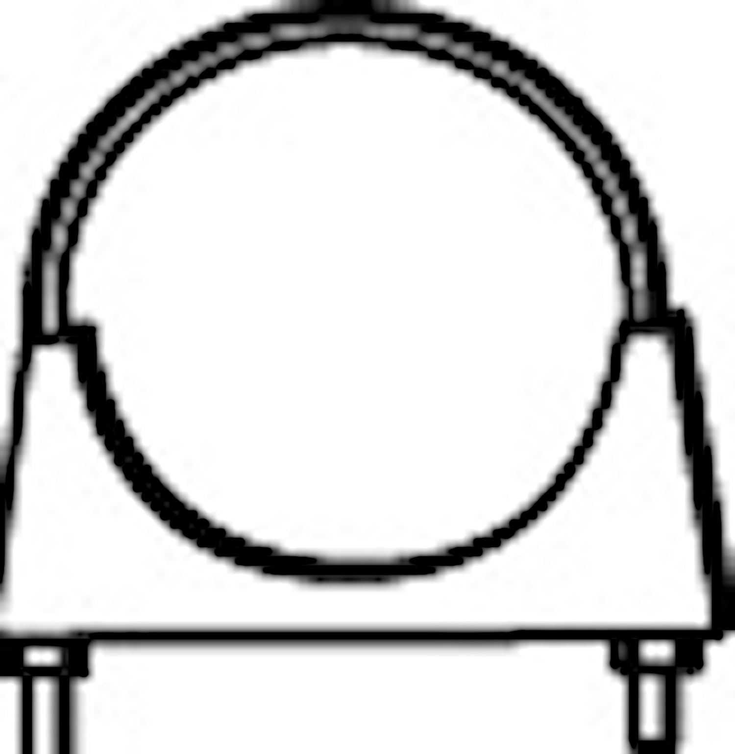 Rörklammer 48 mm M10