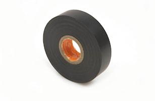 Eltejp PVC svart, S-märkt