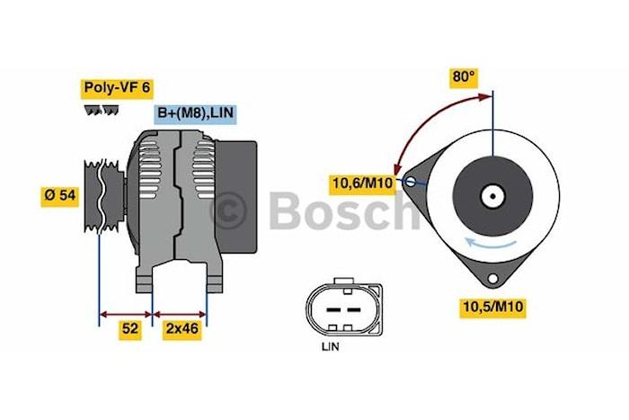 Generator utbytes 14V/150A