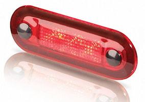Flushbelysn LED 12V klar röd