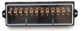 Säkringsdosa med lock 12-polig