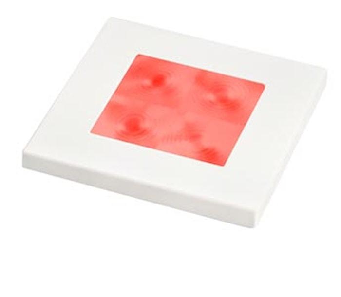 Flushbel 12V LED röd 60x60mm