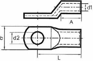 Rörkabelsko 50mm², M8