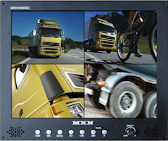 """Skärm TFT-LCD 15"""" 12-30V, Quad"""