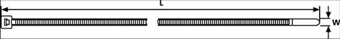 Buntband 390x4,6mm (1=100st)