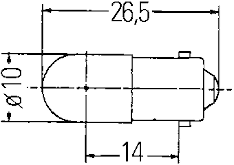 Halogenglödl 28V/7,5W BA9s