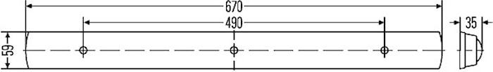 Lysrörsarmatur 12V 13W 668x59