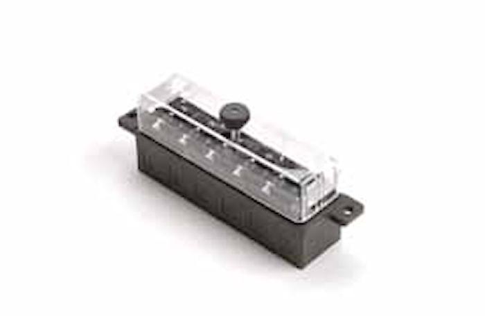 Säkringshållare 6-pol. m. lock