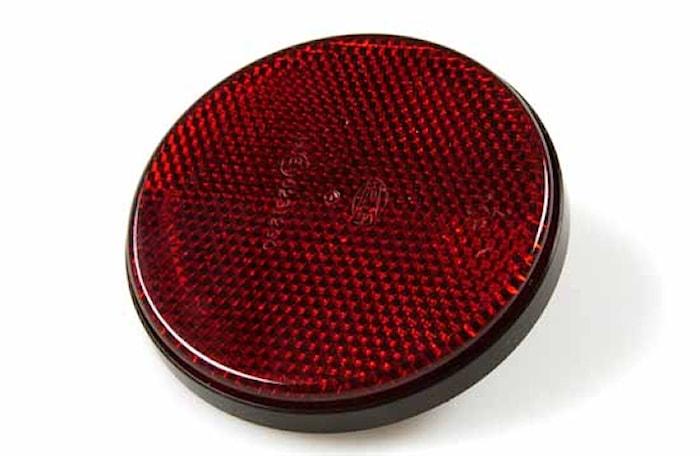 Reflex röd 85mm Ø med skruv M5