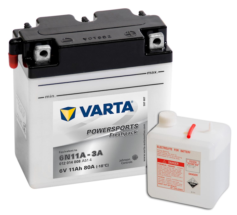 Batteri 12Ah MC Fresh Pack 6V