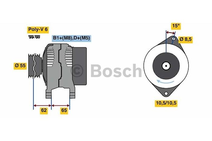 Generator utbytes 14V/120A