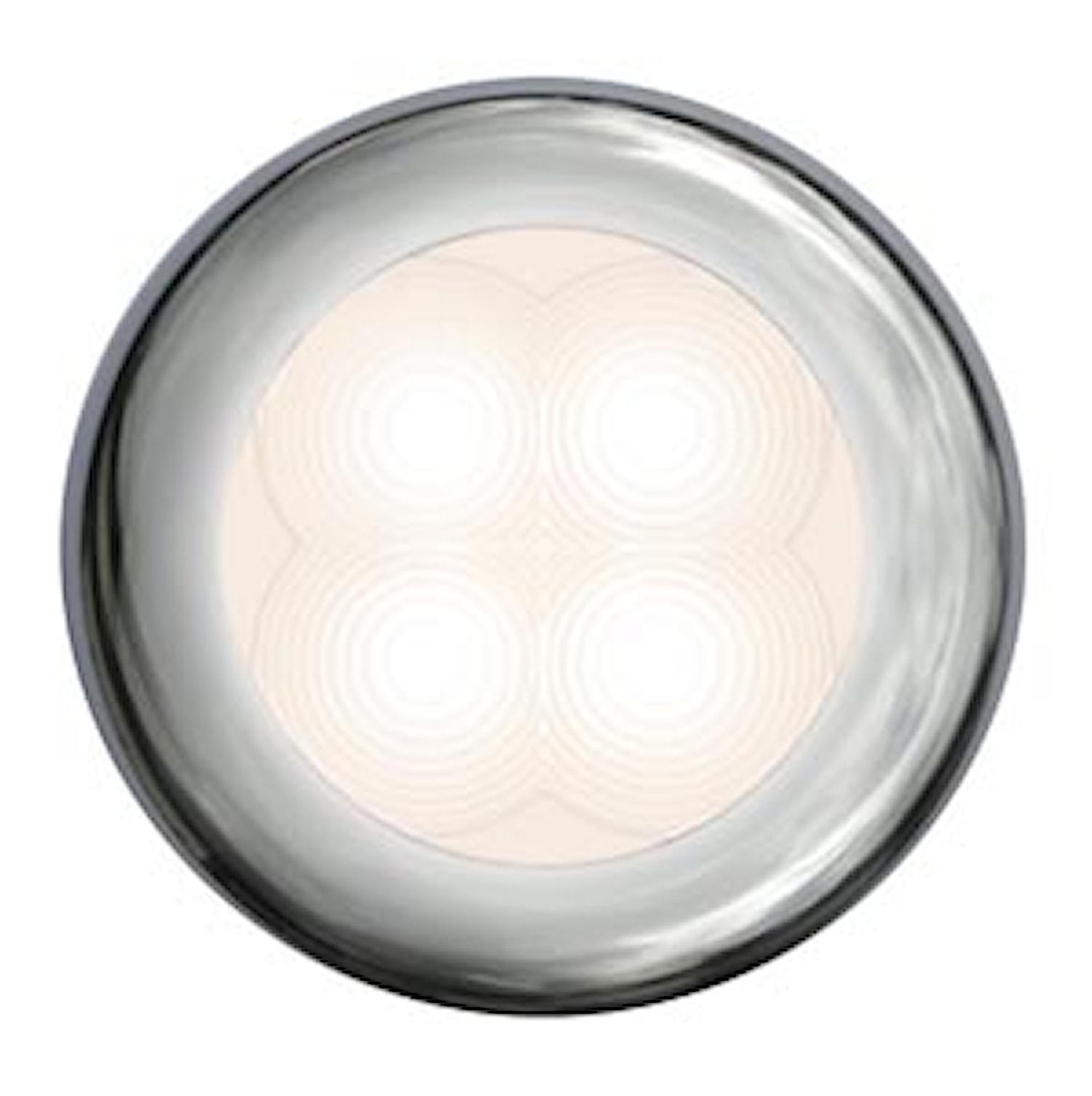 Flushbelysn 12V LED vit 75mm Ø
