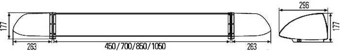 Ljusramp 12V gul OWS 1000