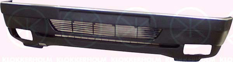 Stötfångare fram m/lamphål