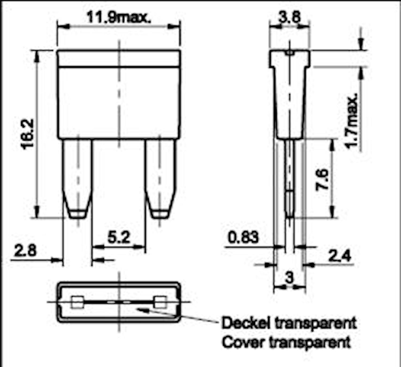 Smallsize säkr. 7,5A, 2st/förp