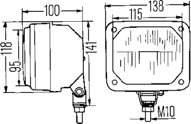 Strålk 138x118mm för påbyggnad