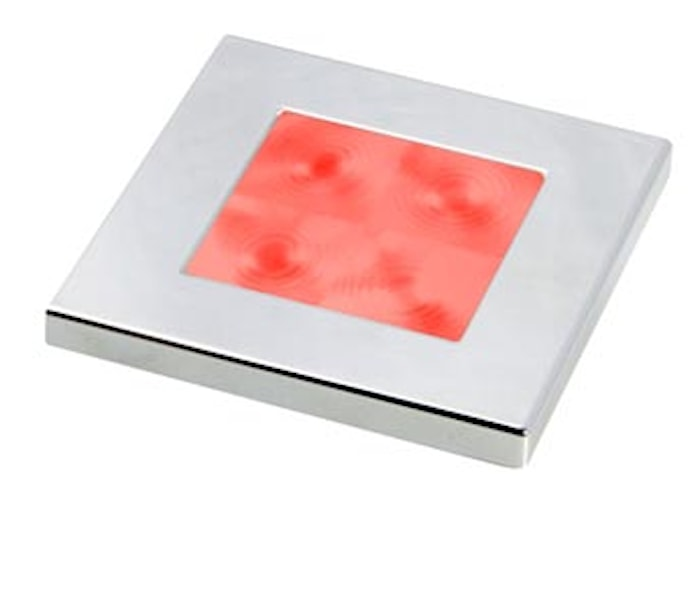 Flushbel 24V LED röd 60x60mm