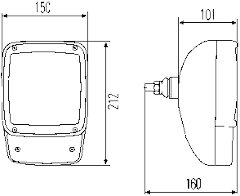 Strålk 12V H7/H3 f påbyggn