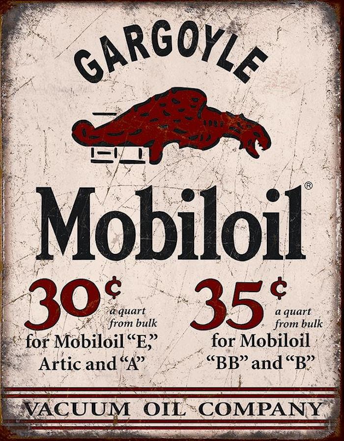 Plåtskylt/Mobiloil